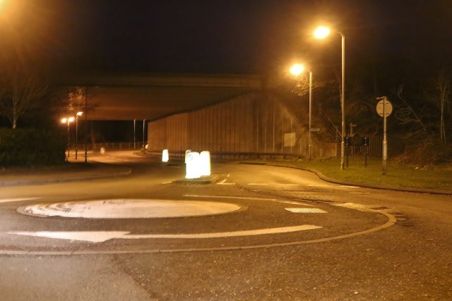 The M5 crossing Hanbury Road, Droitwich