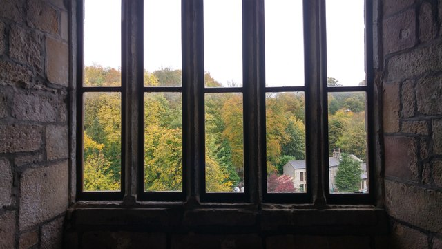 Windows in the Withdrawing Room, Skipton Castle