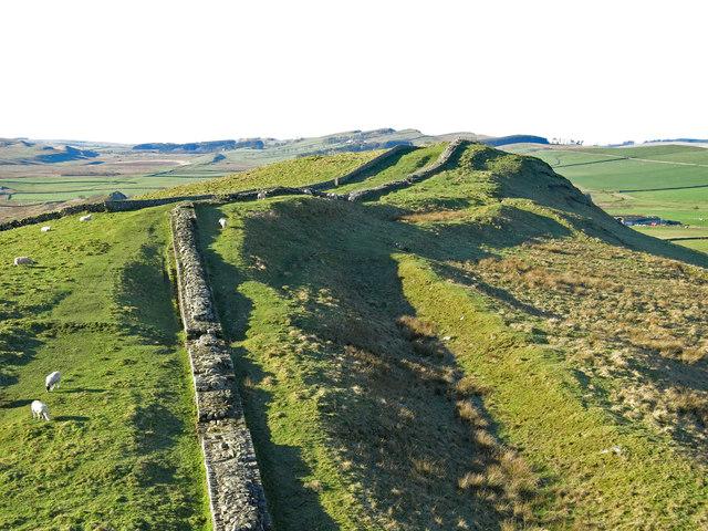 Hadrian's Wall west of Caw Gap (2)