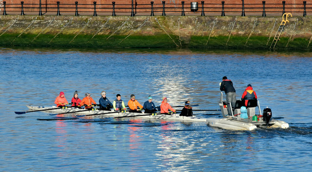 Rowers, River Lagan, Belfast (February 2019)