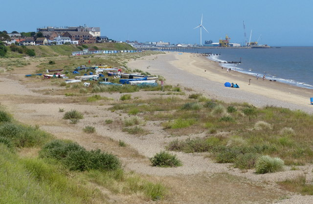 Beach and dunes at Pakefield