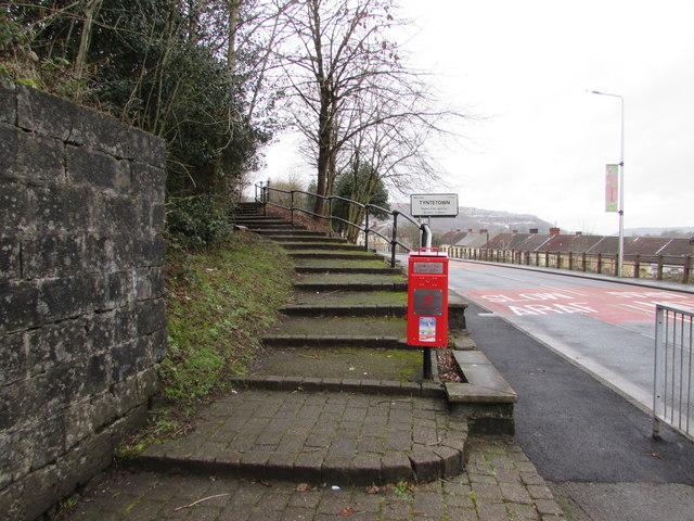 Steps up from Abercynon Road, Ynysboeth
