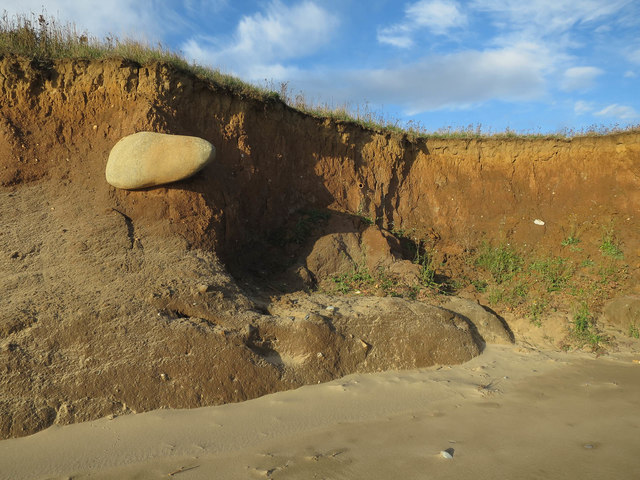 Large rock in the boulder clay