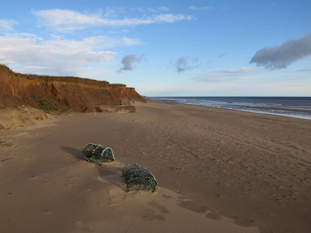 Lobster pots on the beach