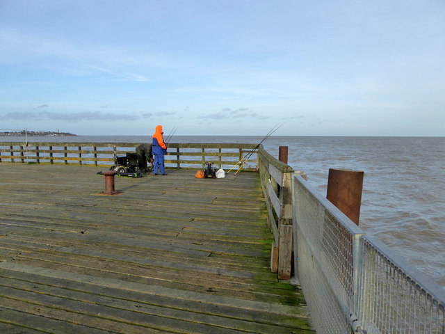 Fishing from the end of Walton Pier