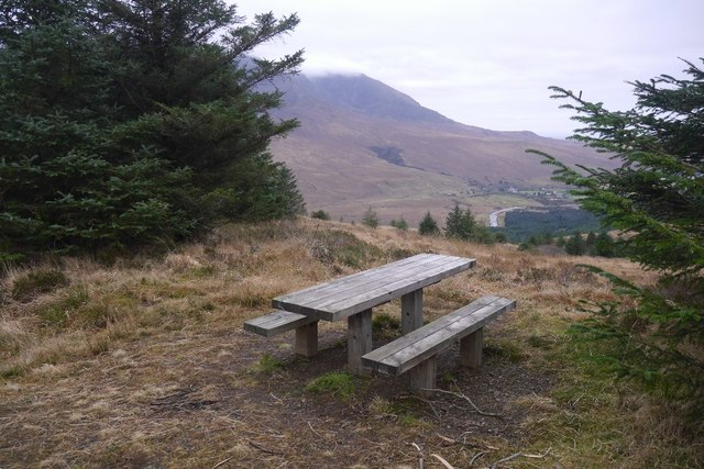 Picnic bench, Bealach Brittle