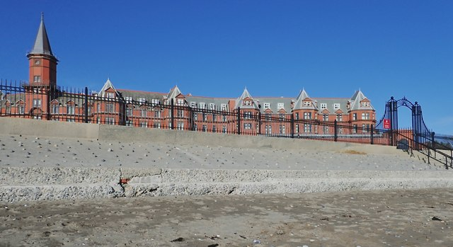 Slieve Donard Hotel from the beach
