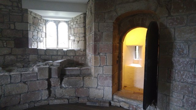 Room in a tower at Skipton Castle