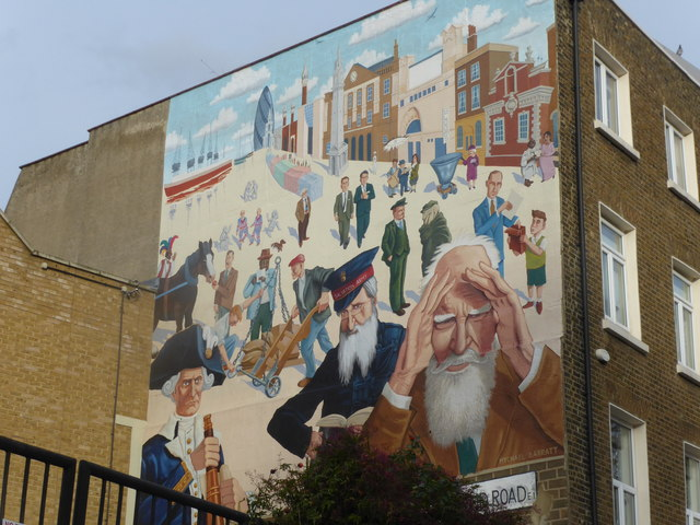 Mural on Mile End Road