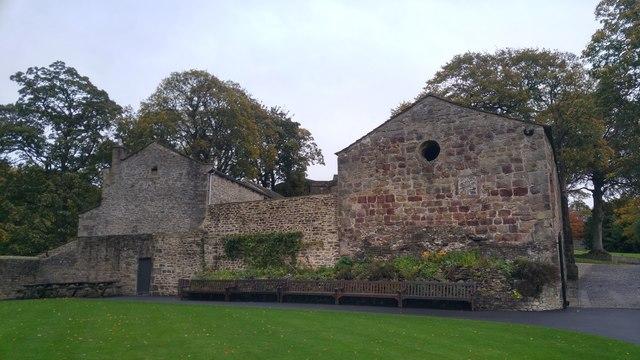 West end of the Chapel of St John the Evangelist, Skipton Castle