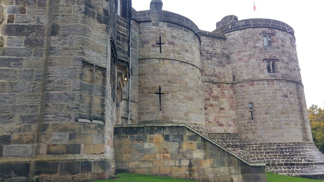 Drum towers and entrance to the Inner Ward, Skipton Castle