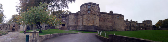 Panoramic view of Skipton Castle