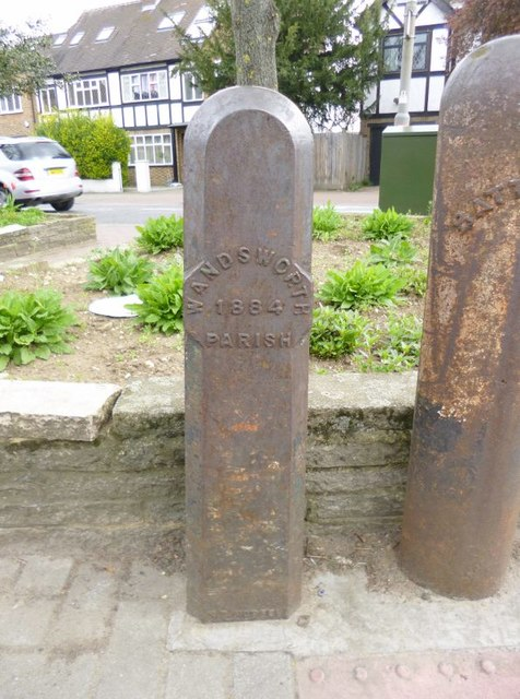 Old Boundary Marker by the A214, Trinity Road, Wandsworth
