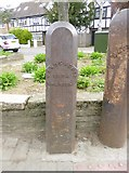 TQ2772 : Old Boundary Marker by the A214, Trinity Road, Wandsworth by Milestone Society