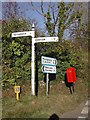 SW9843 : Old Direction Sign - Signpost by Milestone Society