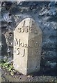 NT9928 : Old Milepost by the A697, South Road, Wooler by IA Davison
