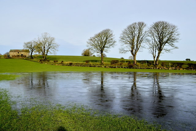 Icy water in a field, Carony
