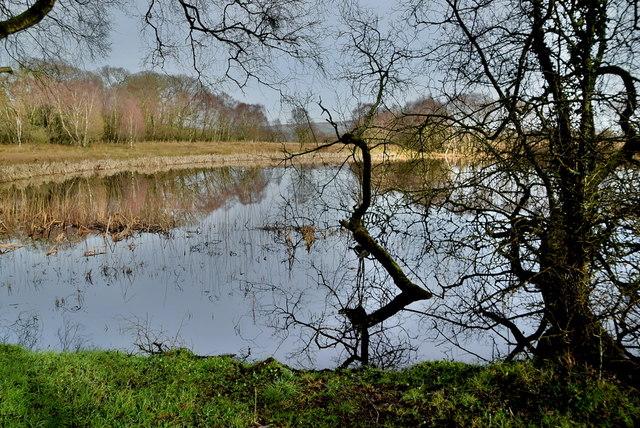 The still water of Claragh Beg Lough