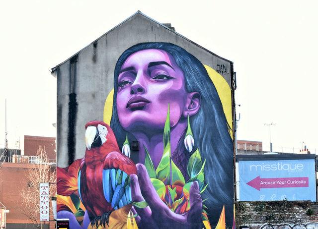 Street art, Gresham Street, Belfast (February 2019)