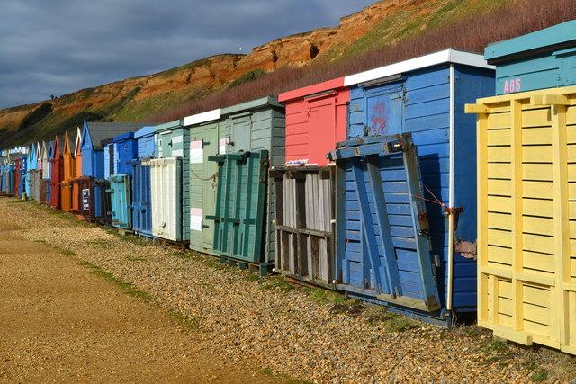 Beach huts at Barton on Sea