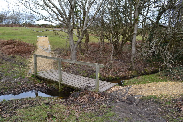 Footbridge over stream on Barton Common