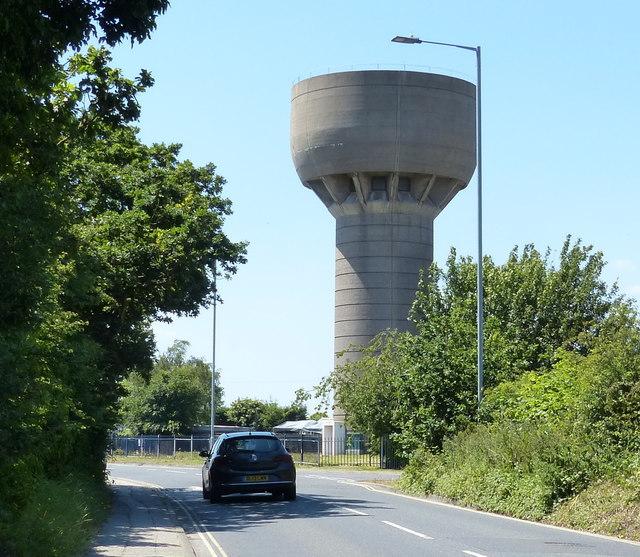 Water tower along London Road in Pakefield