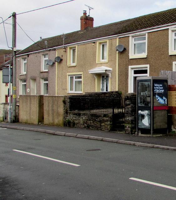 BT phonebox, Dare Road, Cwmdare