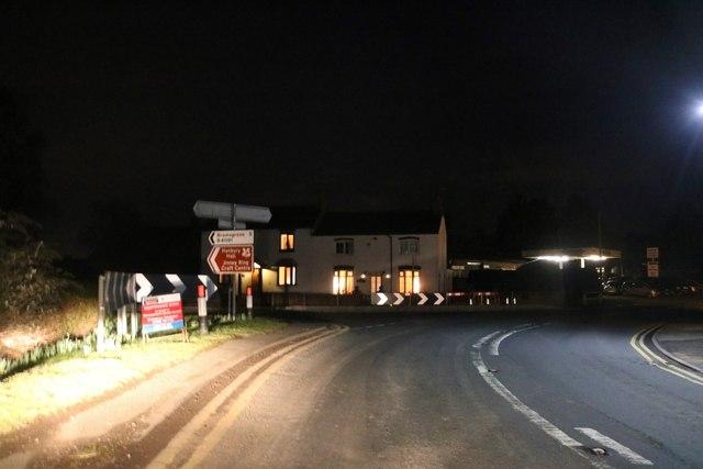 Junction on Salt Way, Hanbury