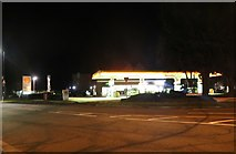 SP2054 : Petrol station on Banbury Road, Stratford-upon-Avon by David Howard