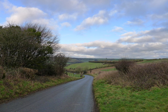 Road down Dickley Hill