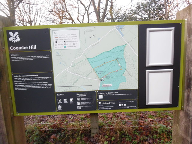 Information Board at Coombe Hill