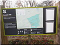 SP8506 : Information Board at Coombe Hill by David Hillas