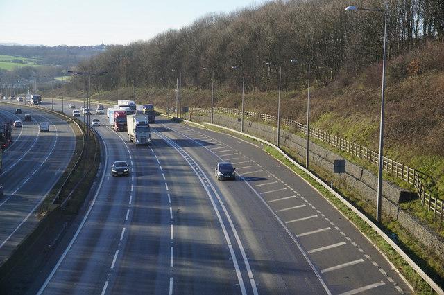 M62 from Hunsworth Lane