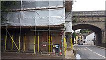 SE0125 : Scaffolding at Mytholmroyd Railway Station by Phil Champion