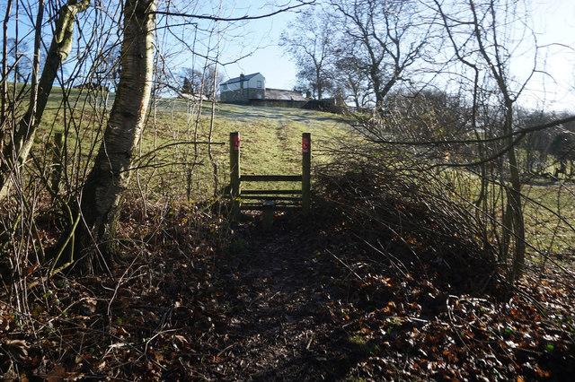 Spen Valley Heritage Trail towards Mazebrook