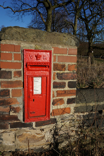 Victorian postbox on Spen Lane