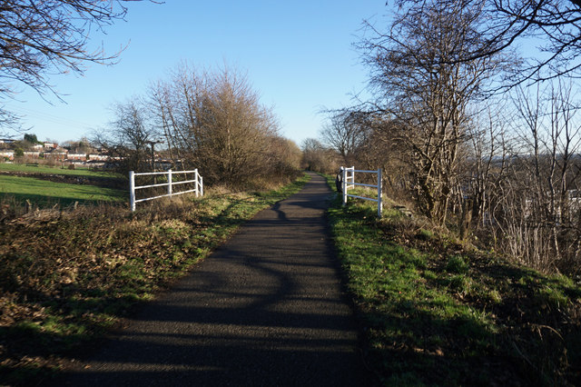 Former railway line at Littletown