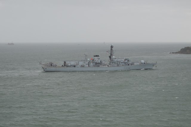 Warship in Plymouth Sound