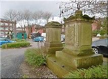 SJ9498 : Ashton-under-Lyne, memorials by Mike Faherty