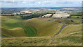 SU3086 : View towards Dragon Hill and the Manger from near Uffington White Horse by Phil Champion