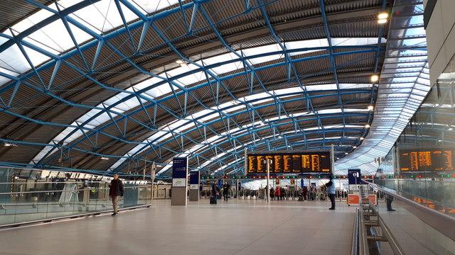 Former Eurostar train hall at London Waterloo