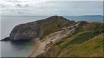 SY8080 : East side of the Durdle Door promontory and beach at Man o' War Cove by Phil Champion