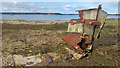 SZ0285 : Remains of derelict boat at Redhorn Quay, Poole Harbour by Phil Champion