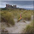 NU1835 : Sand dunes, Bamburgh Castle by Ian Taylor