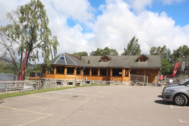 The Boathouse restaurant building, Loch Insh Watersports Centre