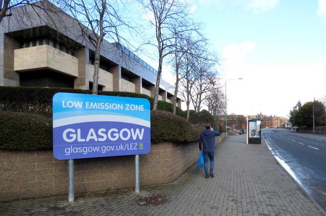 Glasgow Low Emission Zone sign