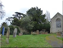 SP2760 : St Peter, Barford: churchyard (a) by Basher Eyre