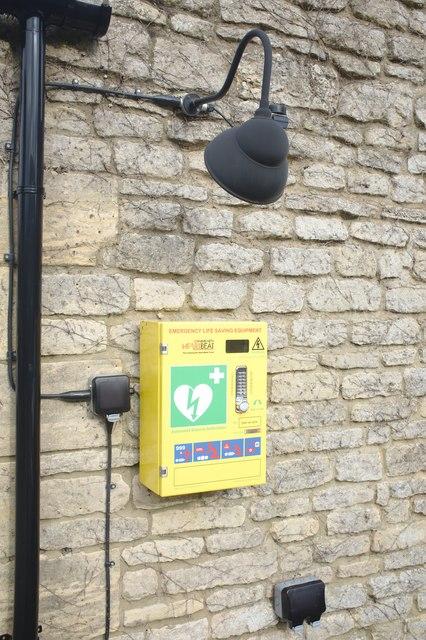 Defibrillator at the pub