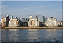 TQ3778 : Isle of Dogs : St David's Square housing development by Julian Osley