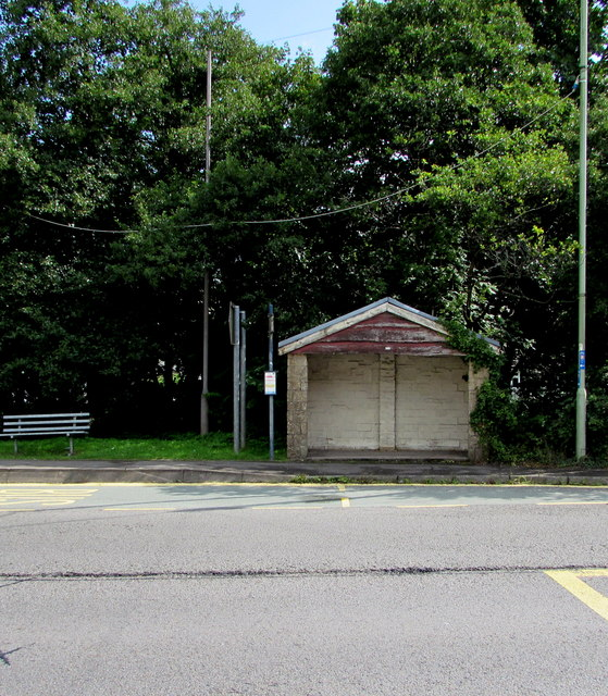 A4061 bus stop and shelter, Blackmill